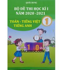 Bộ đề thi học kì 1 lớp 1 năm 2020 - 2021 (Bộ sách mới)