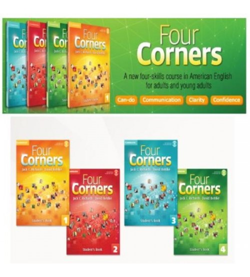 Four Corners Level 1 2 3 4 (Full ebook +audio+video)