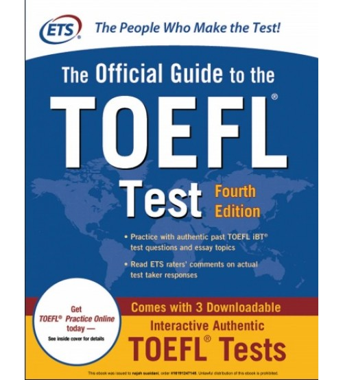 The Official Guide to the New TOEFL iBT pdf