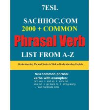 2000+ common phrasal verb list from a-z