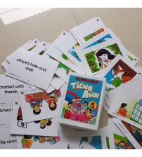 Combo Flashcard tiếng anh lớp 1,2,3,4,5 chương trình mới
